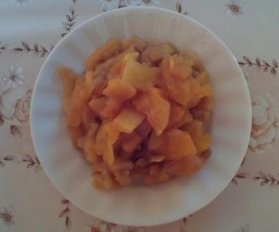 Десерт из яблок и тыквы