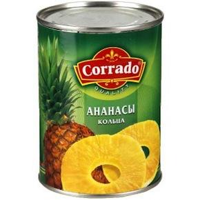 Я покупаю кольца ананаса Corrado без содержания сахара