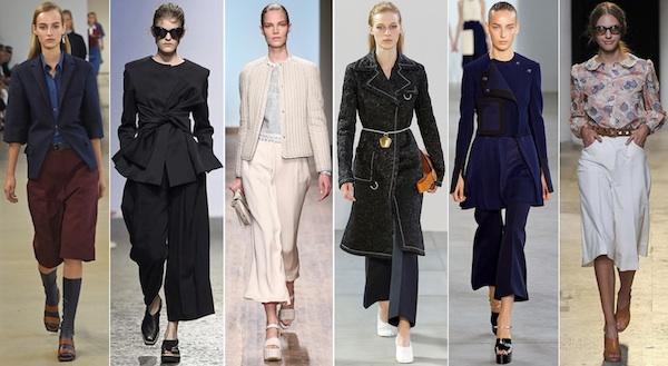 Широкие брюки укороченной длины модно в 2015
