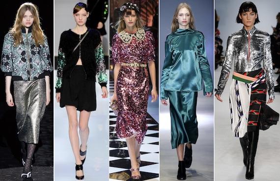 Блестящие ткани модно - смотрите больше фото
