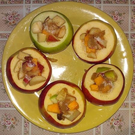начинить яблоки