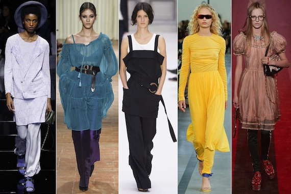 Платье с брюками - новый модный тренд 2017