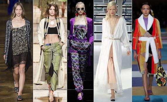 Халаты как верхняя одежда модно в 2017