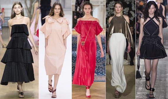 Открытые плечи - модный тренд 2017