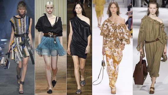 Спадающее плечо модно в 2017