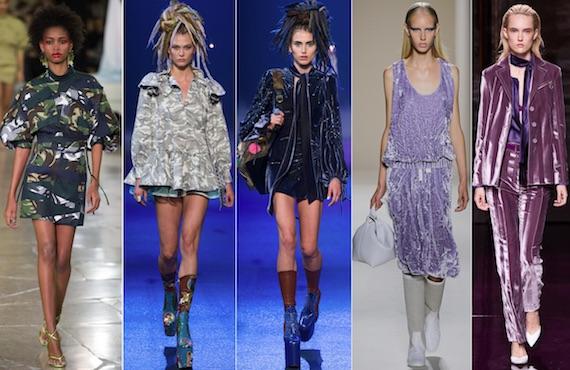 Защитный принт и бархат модно 2017