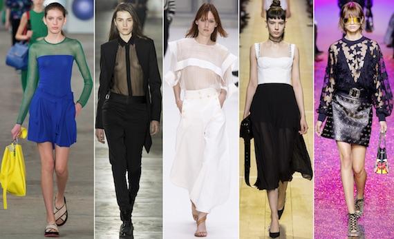 Одежда из прозрачной ткани - модно 2017
