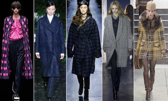 Пальто в модную клетку