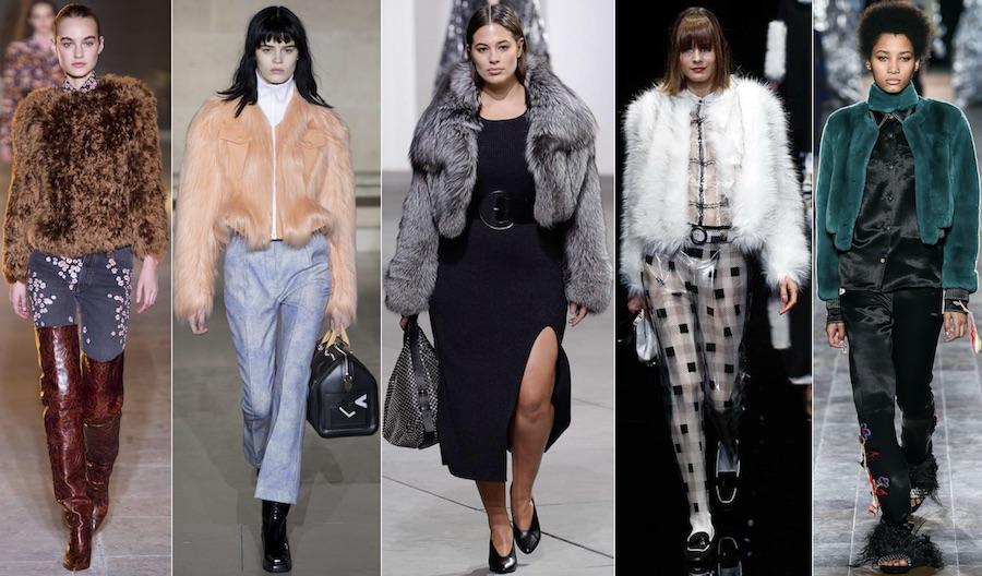 Короткие меховые жакеты модно в 2018