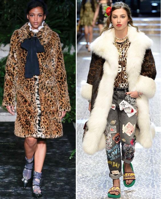 Шубы с леопардовым принтом модно в 2018