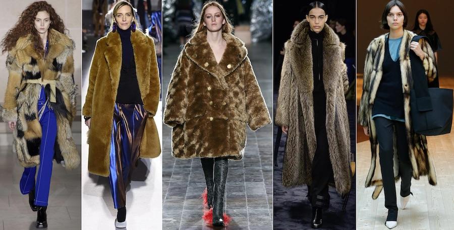 шубы из дикого меха модно в 2018